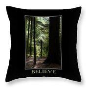 Believe Inspirational Motivational Poster Art Throw Pillow by Christina Rollo