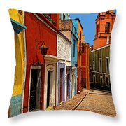 Bell Tower View Throw Pillow by Mexicolors Art Photography