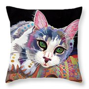 Bella Throw Pillow by Bob Coonts