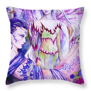 Belladona From The Fiary Collection Throw Pillow by Morgan Fitzsimons