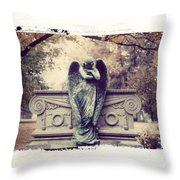 Bellefontaine Angel Polaroid Transfer Throw Pillow by Jane Linders