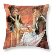 Below Stairs  Throw Pillow by Felicity House