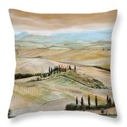 Belvedere - Tuscany Throw Pillow by Trevor Neal