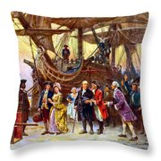 Ben Franklin returns to Philadelphia Throw Pillow by War Is Hell Store
