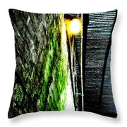 Beneath The Boardwalk Throw Pillow by Mike Grubb