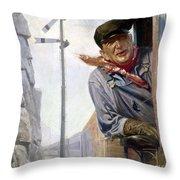 Beneker: The Engineer, 1913 Throw Pillow by Granger