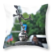 Benz 1916 Ds2 - Hood Ornament Throw Pillow by Kaye Menner