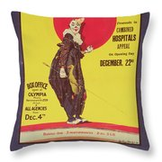 Bertram Mills Circus Poster Throw Pillow by Dudley Hardy