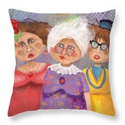 Bestfriendsforever Throw Pillow by Arline Wagner