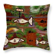 Beware of the dog Throw Pillow by Pepita Selles