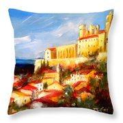 Beziers Throw Pillow by K McCoy
