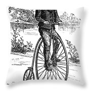 BICYCLE, c1870s Throw Pillow by Granger