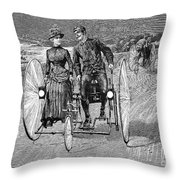 Bicycling, 1886 Throw Pillow by Granger