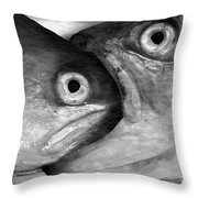 Big Fish Eat Small Fish Throw Pillow by Michal Boubin