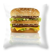 Big Mac Throw Pillow by Geoff George