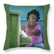 Big Mama Throw Pillow by Caroline Peacock