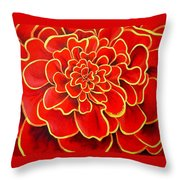Big Red Flower Throw Pillow by Geoff Greene