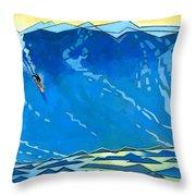 Big Wave Throw Pillow by Douglas Simonson