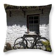 Bike At The Window County Clare Ireland Throw Pillow by Teresa Mucha