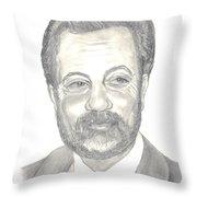 Billy Joel Portrait Throw Pillow by Carol Wisniewski
