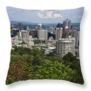 Birds Eye View Of Montreal, Canada Throw Pillow by Stacy Gold