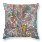 Birds In A Bush Throw Pillow by Ben Kiger