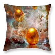 Birth Throw Pillow by Jacky Gerritsen