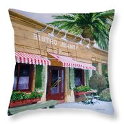 Bistro Jeanty Napa Valley  Throw Pillow by Gail Chandler