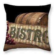Bistro Still Life Iv Throw Pillow by Tom Mc Nemar