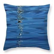 Black And White On Blue Throw Pillow by Tom Vaughan