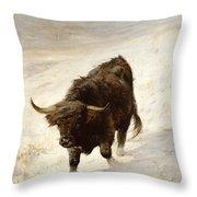 Black Beast Wanderer  Throw Pillow by Joseph Denovan Adam