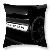 Black Falcon Throw Pillow by David Lee Thompson