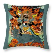 Black Hayagriva Throw Pillow by Sergey Noskov
