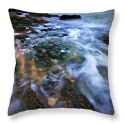 Black Point Light Throw Pillow by Meirion Matthias