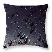 Black Rain Throw Pillow by Steven Milner