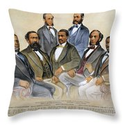 Black Senators, 1872 Throw Pillow by Granger