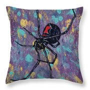 Black Widow Throw Pillow by Michael Creese
