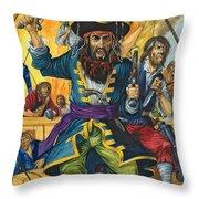 Blackbeard Throw Pillow by Richard Hook