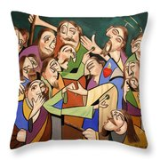 Blessed Is He Who Believes Without Seeing Throw Pillow by Anthony Falbo