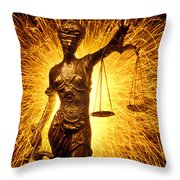 Blind Justice  Throw Pillow by Garry Gay