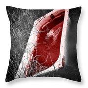 Bloody Bathtub Throw Pillow by Wim Lanclus