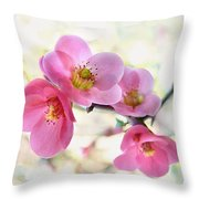 Blossoms Throw Pillow by Marion Cullen