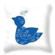 Blue Bird Throw Pillow by Frank Tschakert