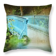 Blue Bridge Throw Pillow by Svetlana Sewell
