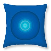 Blue Circles Throw Pillow by Frank Tschakert