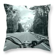 Blue Harley Throw Pillow by Micah May