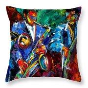 Blue Jazz Throw Pillow by Debra Hurd