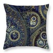 Blue Machine Throw Pillow by Martin Capek