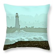 Blue Mist 2 Throw Pillow by Marilyn Hunt