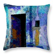 Blue Passage by Michael Fitzpatrick Throw Pillow by Mexicolors Art Photography